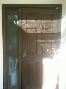 仕上がったドア