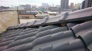 瓦屋根の塗り替え前の様子
