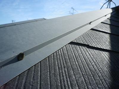 止め釘にシール材 屋根