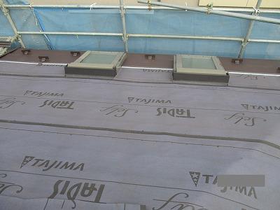 さいたま市中央区 屋根カバー ルーフィング