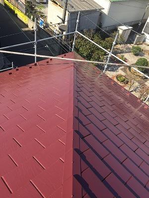 北足立郡伊奈町でアステックの【遮熱塗料】で秋色屋根塗装を行いました。