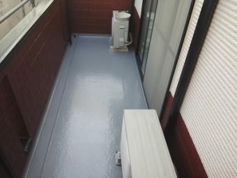 バルコニー防水完工