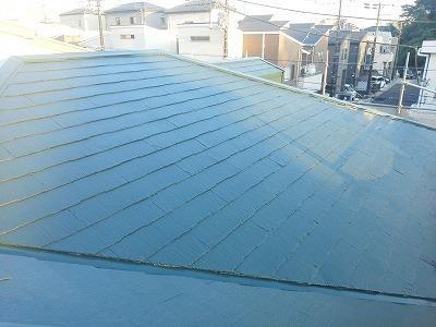 屋根塗装完工後