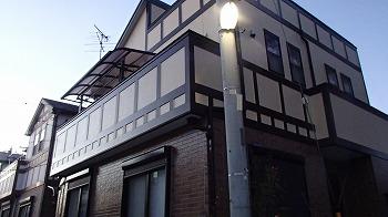 さいたま市桜区で【屋根塗装】、ベランダ防水加工付帯塗装