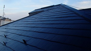 屋根の塗装完成の状態