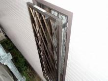 外壁塗装時に塗り替えた窓の格子部分