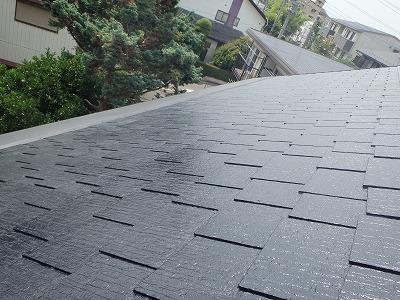 塗装を終えた屋根