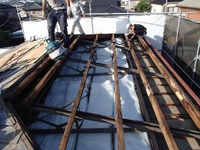 上尾市屋根の葺き替え工事