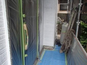 塗装の養生処理