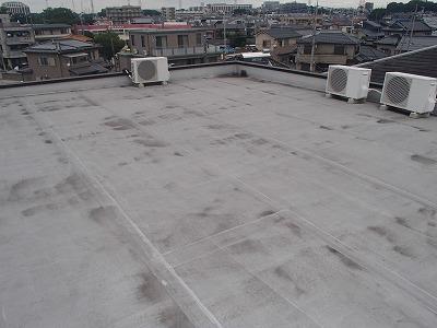 11年たった屋上 塗装