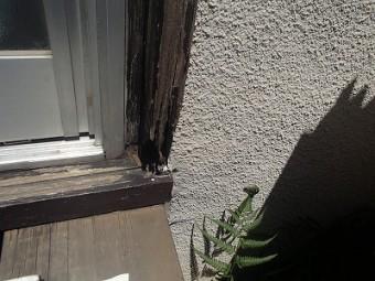 外壁 サッシ枠 劣化