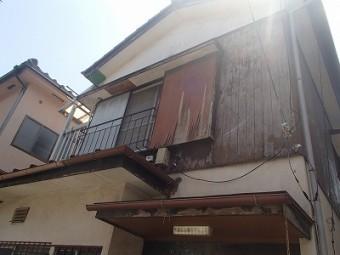 外壁 全体 剥がれてる 木製