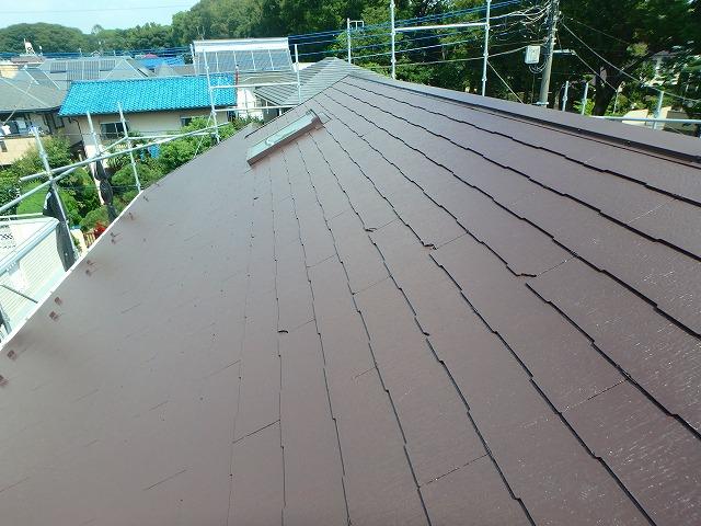 屋根完成 塗装