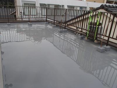 屋上防水 塗装後