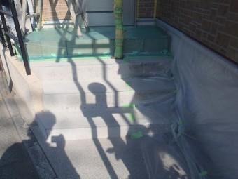 玄関周り施工時の養生処理