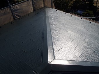 屋根中塗り時