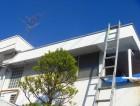 蓮田市で屋根塗装と軒天張替えと玄関ドア塗装