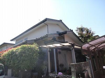 外壁塗装前の家