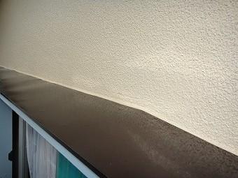 庇の塗装後