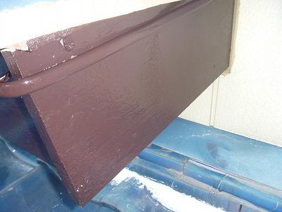 破風板の塗替えを行いました