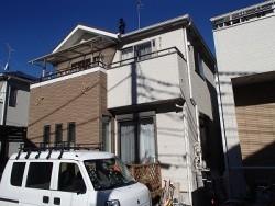 川口市の一軒家を再塗装擦る前の状態
