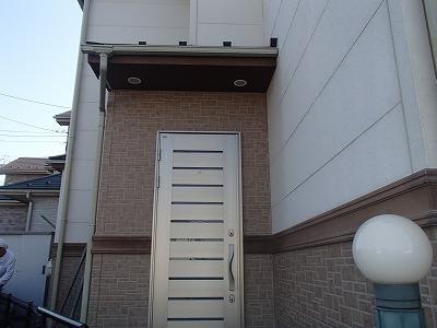 玄関周りの塗装を行う前