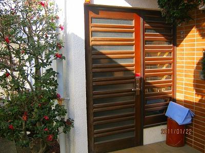 蓮田市 玄関ドア塗装