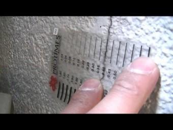 外壁 クラックスケール測定
