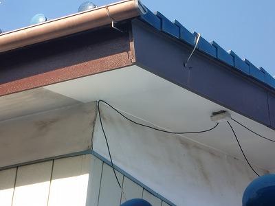 軒天の板を貼り換えました
