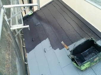下屋根 塗装
