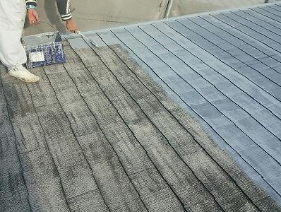 屋根塗り始め